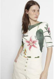 Body Floral - Off White & Verdeosklen