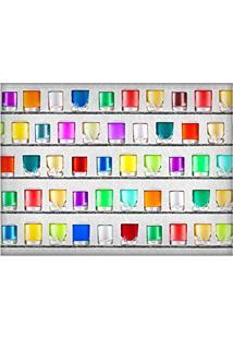 Jogo Americano Decorativo, Criativo E Descolado | Copos Coloridos - Tamanho 30 X 40 Cm