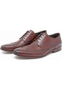 Sapato Ingles Social Masculino Em Couro Macio - Masculino-Marrom