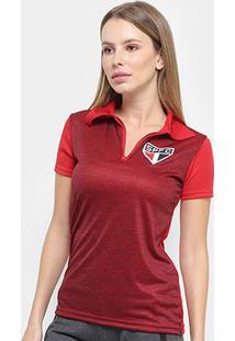 Camisa Polo São Paulo Mescla Feminina - Feminino
