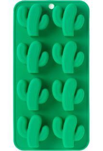 Forma De Gelo Cactus Silicone Verde 21X11Cm - 30263