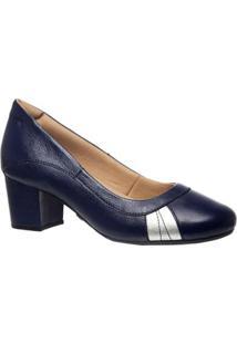 Scarpins Feminino 279 Em Couro Doctor Shoes - Feminino-Marinho