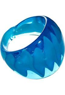 Anel De Vidro - Feminino-Azul