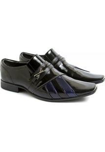 Sapato Social Couro Venetto Elegante Prince - Masculino-Preto