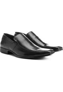 Sapato Social Couro Shoestock Pala Lisa - Masculino-Preto