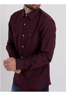 Camisa Sibra Slim Masculina - Masculino-Vinho
