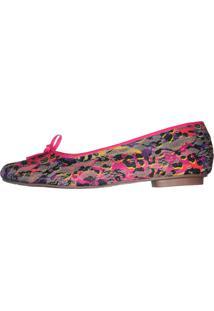 Sapatilha Dona Cereja Calçados Estampa Pink