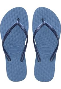 Sandálias Havaianas Slim Flatform Azul