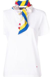Polo Ralph Lauren Camiseta Com Estampa De Seda - Branco