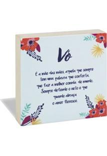 Quadro Bloco Cartã£O Vã³ Floral - Unico - Feminino - Dafiti