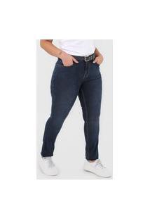 Calça Jeans Calvin Klein Jeans Skinny Rise Azul