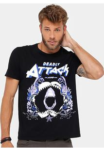 Camiseta Ellus 2Nd Floor Shark Attack Masculina - Masculino
