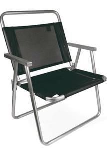 Cadeira Oversize Alumínio - Unissex-Preto