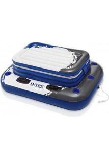 Bar Flutuante Cooler Boia Inflável Piscinas Intex 72 Latas - Unissex-Azul