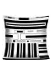 Capa Para Almofada Black And White - Baw5