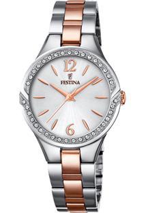 Relógio Festina Feminino Aço Prateado E Rosé - F20247/1