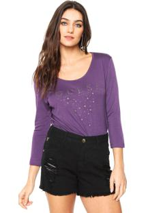 Camiseta Guess Stars Roxa