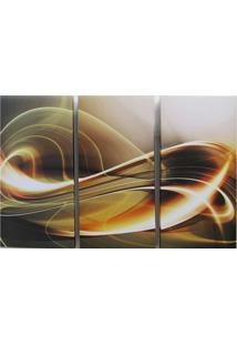 Quadros Impressão Digital Trio Marrom 120X80 Cm