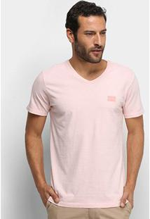 Camiseta Calvin Klein Gola V Masculina - Masculino-Rosa Claro