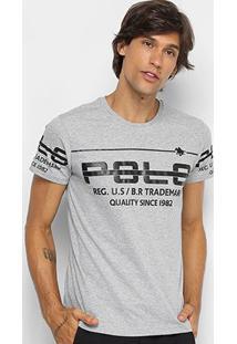 Camiseta Rg 518 Meia Malha Estampada Masculina - Masculino-Grafite