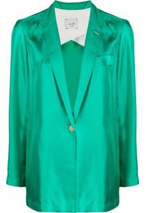 Alysi Blazer De Alfaiataria Com Abotoamento Simples - Verde