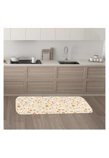 Tapete De Cozinha Mdecore Galinha Coral 40X120Cm