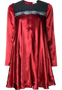 Redvalentino Vestido Com Detalhe De Renda - Vermelho