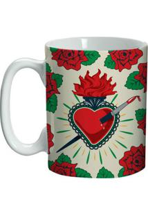 Caneca Cerâmica Frida Kahlo Heavened Heart 135 Ml - Mini Caneca Cerâmica Frida Kahlo Frida Kahlo Heavened Heart 9,5 X 6 X 8 Cm 135 Ml