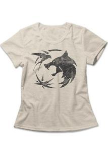 Camiseta Feminina The Witcher Logo - Feminino-Mescla