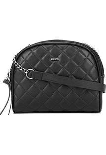 Bolsa Anacapri Mini Bag Npq Eco Napa Like Matelassê Feminina - Feminino-Preto