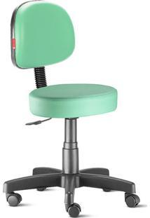 Cadeira Mocho Verde Água Secretária Giratória