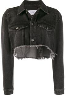 Givenchy Jaqueta Jeans Cropped - Preto