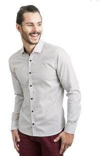 Camisa Di Sotti Estampada Vinho - Masculino