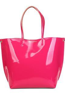 Bolsa Loucos & Santos Sintetico Verniz Soft Feminina - Feminino-Pink