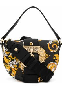 Versace Jeans Couture Baroque Print Shoulder Bag - Preto