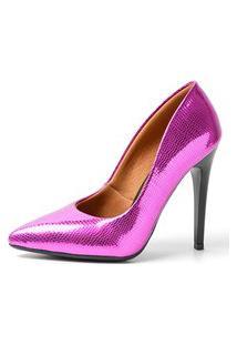 Scarpin Factor Salto Alto - Largato Pink