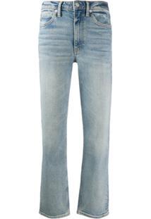 Alexander Wang Calça Jeans Boyfriend Com Zíper Posterior - Azul