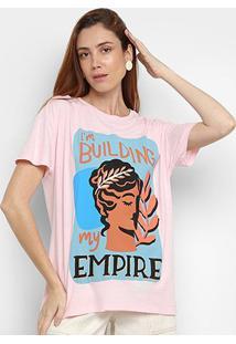 Camiseta Cantão Empire Manga Curta Feminina - Feminino-Rosa