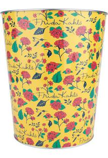 Lixeira Frida Kahloâ®- Amarela & Vermelha- 22X17,5X26Urban