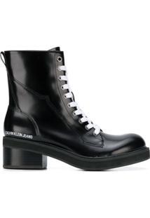 Calvin Klein Jeans Bota Salto Bloco - Preto