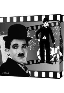 Quadro Preto & Branco Charlie Chaplin 30X30Cm Uniart