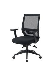 Cadeira Genebra Diretor Preta Regulável 108Cm - 62565 Preto