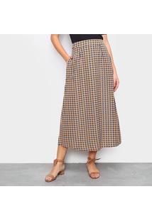 Saia Top Moda Longa Estampada - Feminino-Laranja