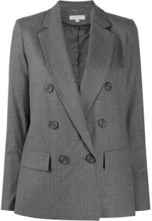 Michael Michael Kors Double Breasted Wool Blazer - Cinza