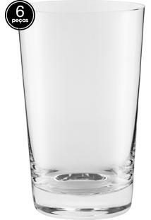 Conjunto 6Pçs Copos Crystal Cerveja 370Ml Branco
