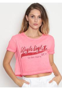 "Blusa Cropped ""High Light"" - Rosa & Vermelhacalvin Klein"