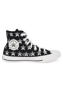 Tênis Converse Chuck Taylor All Star Hi Estrelas Preto/Branco/Branco Ct14790001.36
