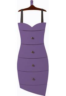Cômoda Dress Roxo Laca M39