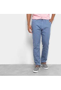 Calça Skinny Jab Linho/ Algodão Masculino - Masculino-Azul
