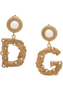 Dolce & Gabbana Ornate D&G Earrings - Dourado